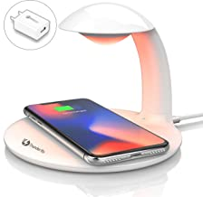 THUNDERBS Wireless Charger Pad for Samsung and Iphone with Color Led Night Light for Desk
