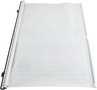 sourcingmap Plateado Parasol Enrollable Cortinilla para Coche Ventanillas 125cm