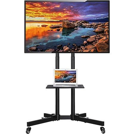 Versa 800x600mm Support TV sur Pied PALMAT Support Table Universelle Meuble TV pour t/él/évision 32-65 Pouces