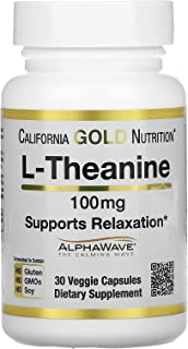 California Gold Nutrition, L-Theanine, AlphaWave, Supports Relaxation, Calm Focus, Helps Promote Relaxation without Drowsi...