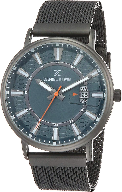 Our shop OFFers the best service Daniel free Klein Mens Wrist Watch DK12244 Mesh - 43mm Strap Anal