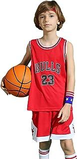ZHAW Bulls Jordan Basketbalshirt, broek voor kinderen, jongens, 23# jersey, ademend mesh, mouwloos, trainingspak, 3XS-2XL ...