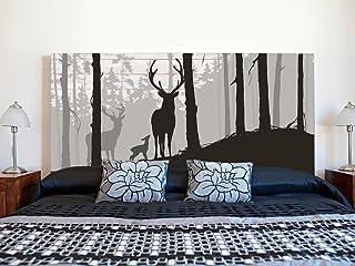 Cabecero Cama PVC Impresión Digital   Ciervo en Bosque 150 x 60 cm   Cabecero Original y Económico