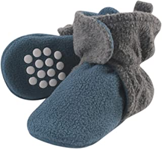 Luvable Friends Fleece Lined Booties, Coronet Blue and Heather Charcoal