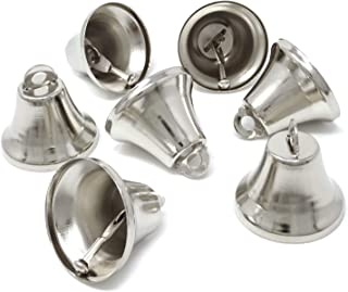 Honbay 20PCS 36mm/1.42inch Silver Jingle Bells Bridal Bells Decoration Bells
