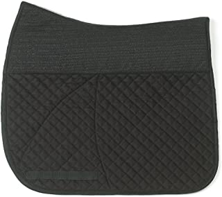 Success Equestrian Deluxe Dressage NO Slip Saddle Pad, Black, Medium