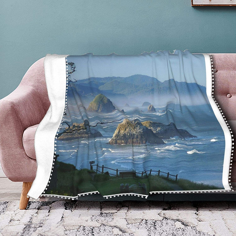 Luckye-ltd Haystack Rock セール特別価格 Cannon Beach 爆買いセール Soft Blanket Oregon Throw