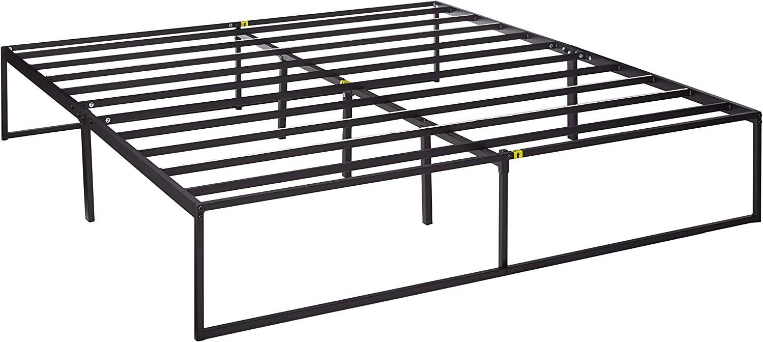 Zinus 14 Inch Platforma Bed Frame   Mattress Foundation   No Box Spring needed   Steel Slat Support, King