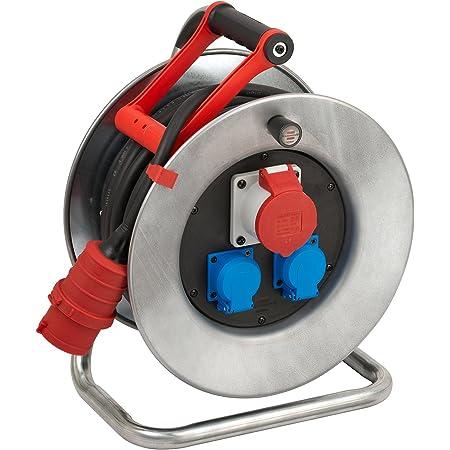 Brennenstuhl Garant S Cee 1 Ip44 Kabeltrommel 25m Stahlblech Einsatz Im Außenbereich Made In Germany Silber Baumarkt