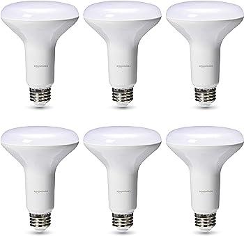 6-Pack AmazonBasics 65-Watt Equivalent Dimmable LED Light Bulb