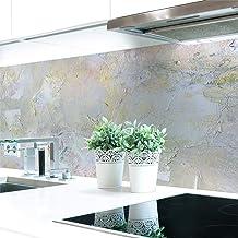 Keuken achterwand schilderij abstract premium hard PVC 0,4 mm zelfklevend - direct op de tegels, afmetingen: 220 x 51 cm