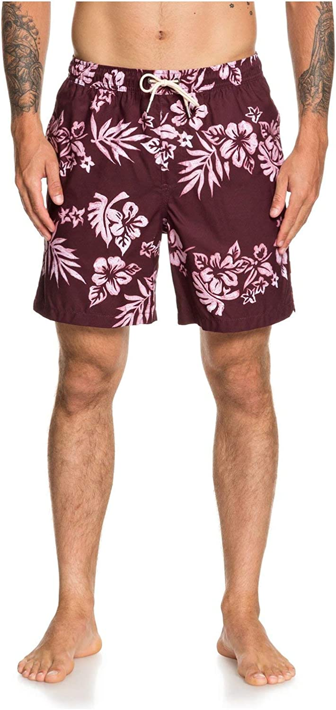Quiksilver Overseas parallel import regular item Men's Standard Floral Feelings Max 72% OFF B 18 Volley Swim Trunk
