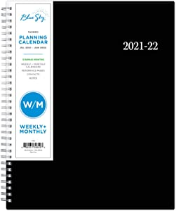 Blue Sky 2021-2022 Academic Year Weekly & Monthly Planner, 8.5