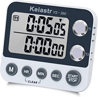 Digital Kitchen Timer Magnetic Back,Cooking Timer,Large Display Loud Alarm Count-Up & Count Down Dual Timer for Cooking Baking Sports Games Office,Volume Adjustable,ON/OFF Switch,Battery Including