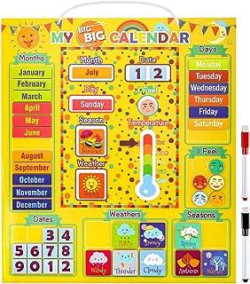 $26 » Daily Magnetic Calendar Preschool Learning Toys Weather Station for Kids Girls Boys Moods Emotions Classroom Calendar Set ...