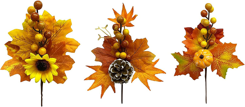 RSTYS Artificial Fall Flower Arlington Mall Luxury goods 3Pcs Thanksgiving Bouquet