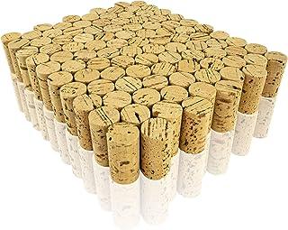 Weinkorken A74001100 Lot de 100 bouchons en liège naturel pour travaux manuels et décorations, Ø 2,5 cm, longueur 4,5 cm