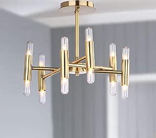 Safavieh FLU4008A Collection Fidelma Mount Flush Light, Gold