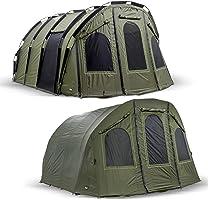 Lucx® Bigfoot Bivvy + Winterskin XXL 2-6 Man/Angelzelt + Überwurf/Karpfenzelt/Carp Dome + Overwrap/Fishing Tent/Camping...