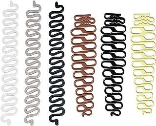 کیت ابزار آرایش مو 6 عدد ، ابزار S و Fishbone DIY لوازم جانبی مو , لوازم جانبی ساز ساز اسباب بازی بری مو (6 جفت تاپس دم)