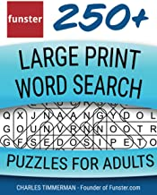 Funster 250+ Large Print Word Search Puzzles for Adults: Word Search Book for Adults Large Print with a Huge Supply of Puz...