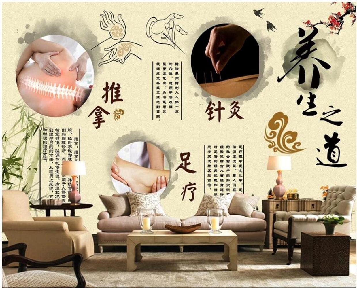 MAZF Custom Mural 3D Photo Medicin Over Manufacturer direct delivery item handling ☆ Wallpaper Traditional Chinese