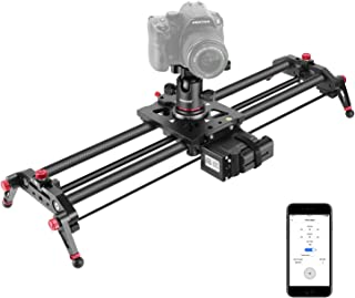 Neewer Motorized Camera Slider, 31.5-inch APP Control Carbon Fiber Track Dolly Rail with Time Lapse Video Shot Follow Focus Shot and 360 Degree Panoramic Ball Head for DSLRs, Load up to 17.6 pounds