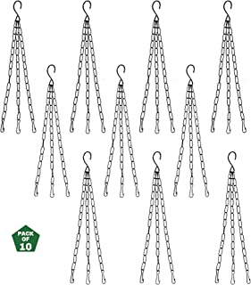 Leafy Tales Set of 10 Metal Hanging Chain - for Hanging Pots
