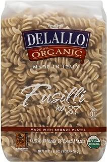 DeLallo Fusilli, Whole Wheat, Organic 16.0 OZ(Pack of 6)