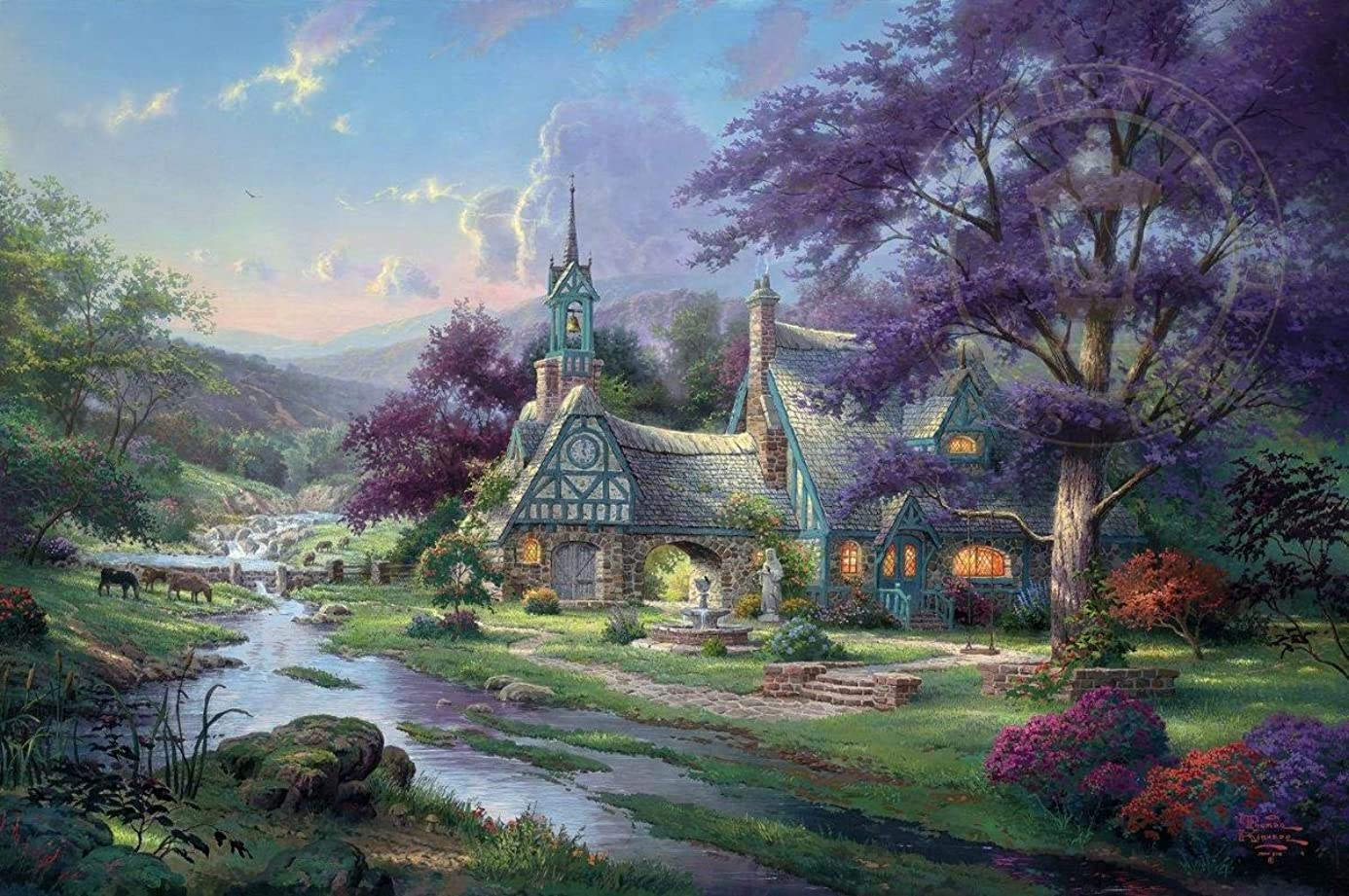 Diamond Painting Thomas Kinkade 12X16 inches 5D DIY Diamond Painting Full Round Drill Rhinestone Embroidery for Wall Decoration rbm8211539