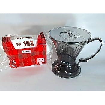 クレバーコーヒードリッパー Lサイズ(半透明ブラック色)+ ホワイトろ紙(100枚入り)