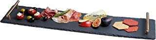 KitchenCraft Artes脿 Slate Serving Tray/Platter with Copper Finish Handles, 60 x 15 cm