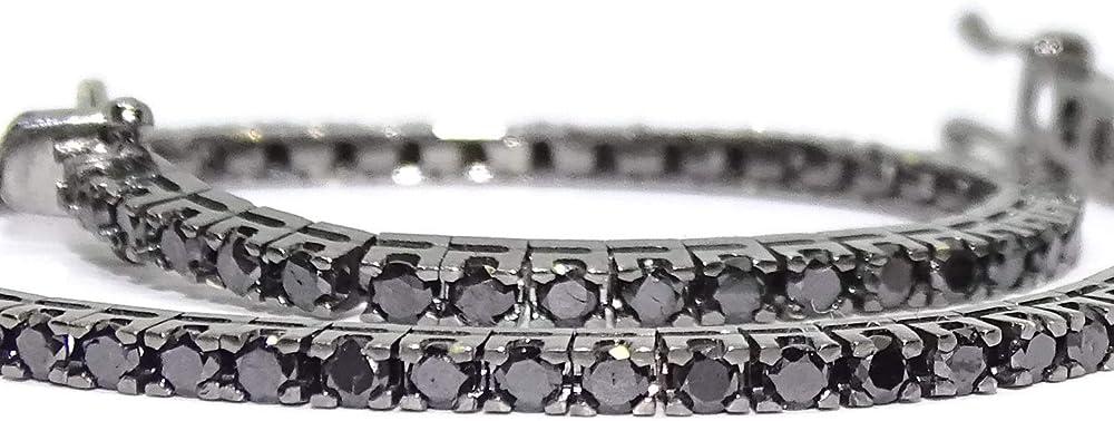 Never say never bracciale con diamanti neri da 2,39 kt e oro bianco 18 k rodiato in nero 967N7315