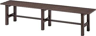 Takasho Aluminium Bench Seat, 150 cm Size, Dark Brown