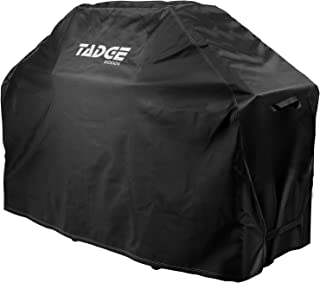"""Tadge Goods BBQ Grill Cover w/Handles (58"""" Black) Waterproof, Heavy Duty 