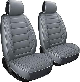 2 Front Car Seat Covers Fit for Vw Beetle Jetta Nissan Pathfinder Altima Frontier Maxima Xterra Murano Subaru Baja Impreza Outback Crosstrek (2 PCS Front, Gray)
