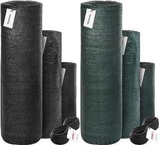 comprar comparacion HOLZBRINK Malla de sombreo con Cuerda de Montaje, sombreado 95%, Panel de vallado 160g/m², Verde Oscuro, Altura 150cm, Lon...