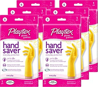 Playtex Gloves HandSaver Gloves: Small - 6 Pairs