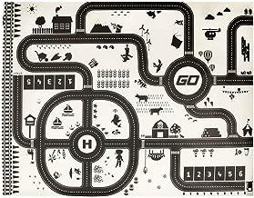 HOK Tapis de Jeu Doubl/é avec des conceptions de Ville et de Campagne