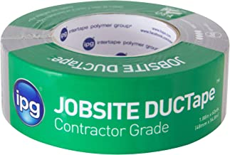 """IPG JobSite DUCTape, Contractor Grade Duct Tape,  1.88"""" x 60 yd, Silver (Single Roll)"""