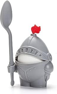 PELEG DESIGN Arthur Soft and Hard Boiled Egg Cup Holder with Spoon Included, Knight Design Egg Holder, Kitchen Utensil Decor