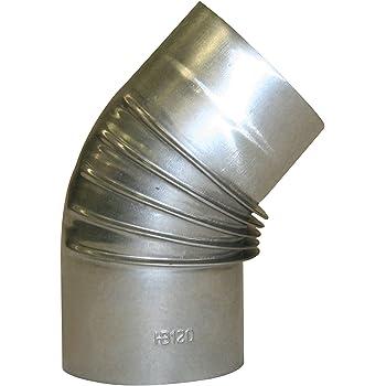 12x0.6x50 cm Argento Kamino-Flam 331075 Tubo Lineare per Stufa