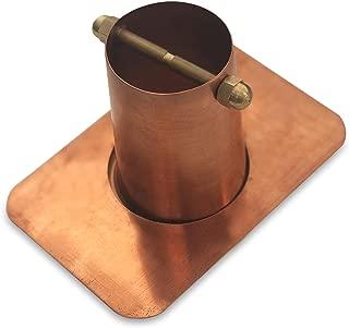 Monarch Rain Chains 18040 2-Piece Pure Copper Rain Chain Installation Gutter Adaptor with Brass Bolt, Standard Adapter
