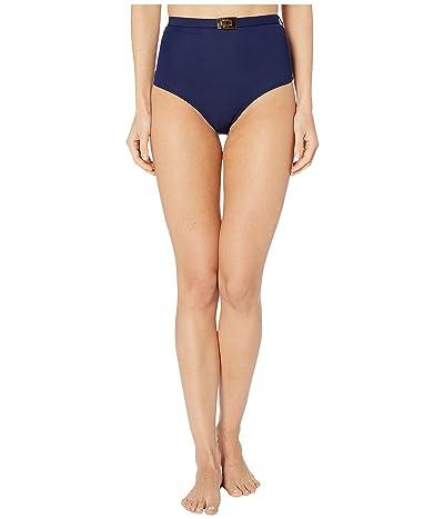 Tory Burch Swimwear T-Belt High-Waisted Bottoms (Tory Navy) Women