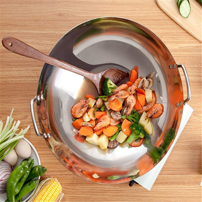 Wok Pan casseroles Skille jardin antiadhésive inoxydable Poêles en acier Poêle à gaz Poêle Pancake Pan for la cuisine (Color : 36cm) 28cm