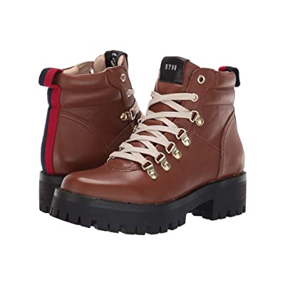 Steve Madden Buzzer Hiker Boot (Cognac Leather) Women