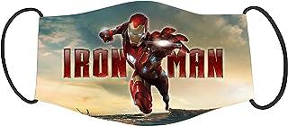 Vista Marvel Iron man Printed Mask for Kids/Cotton Reusable Washable Mask Size 18x10cms