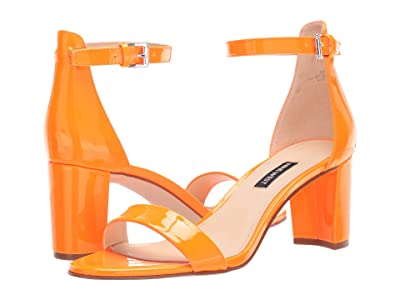 Nine West Pruce Block Heel Sandal (Neon Orange) High Heels