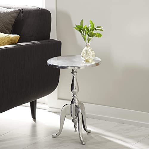 "Deco 79 Accent Table, 22"" x 15"", Silver"