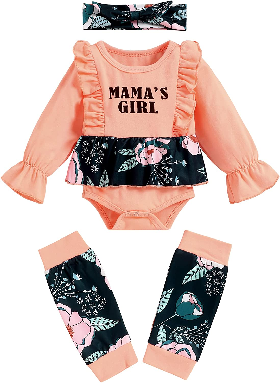 Newborn Infant Baby Girl Clothes Ruffles Romper Leg Warmers Jumpsuit Bodysuit Cute Fall Winter Outfits Set